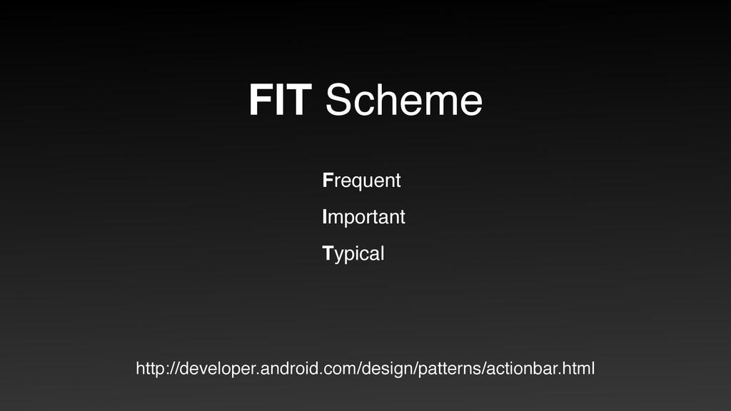 FIT Scheme Frequent Important Typical http://de...