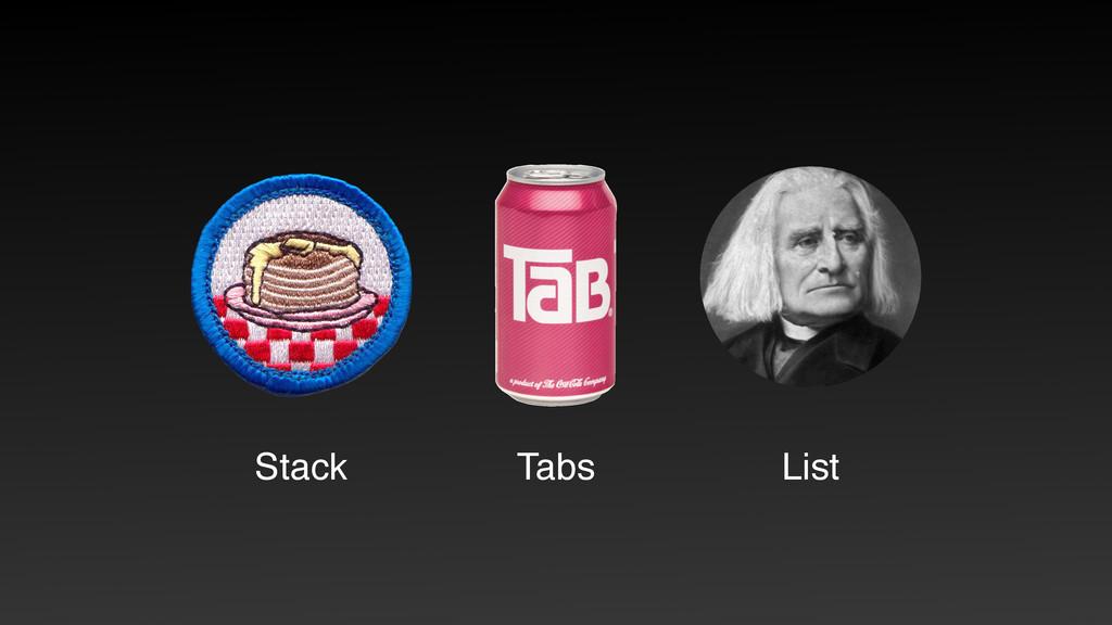 Tabs Stack List