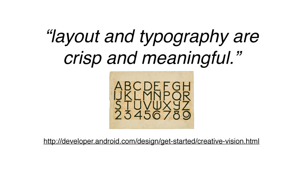 """""""layout and typography are crisp and meaningful..."""