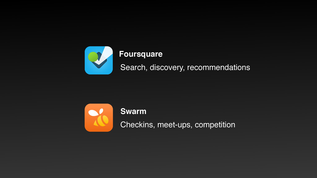 Foursquare Search, discovery, recommendations S...