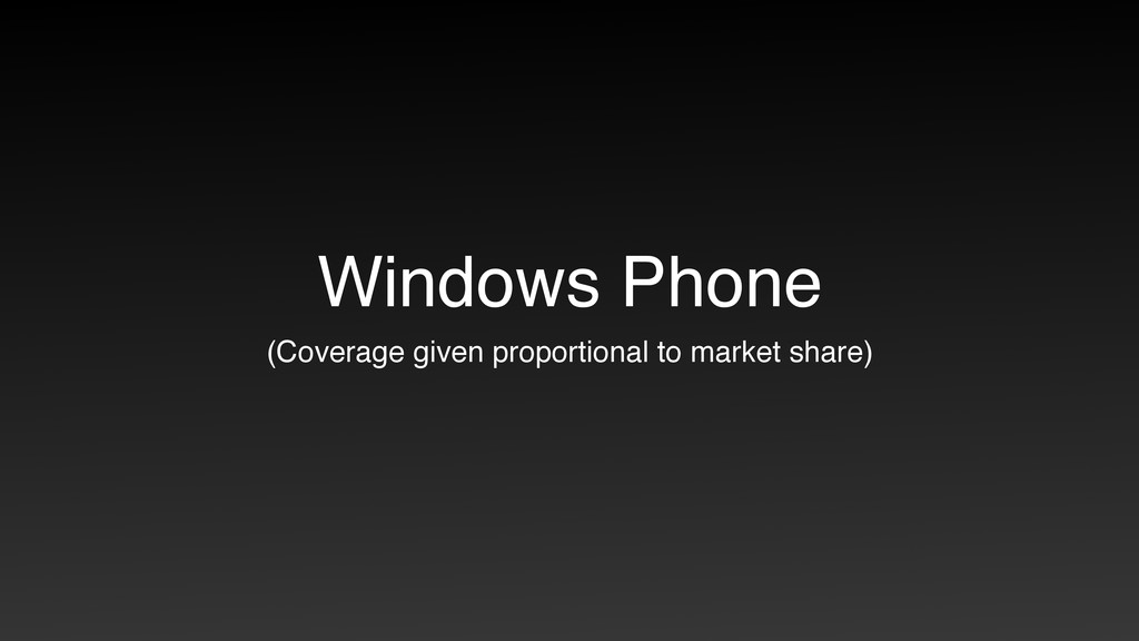 Windows Phone (Coverage given proportional to m...