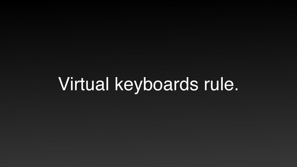 Virtual keyboards rule.