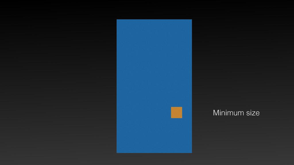 Minimum size