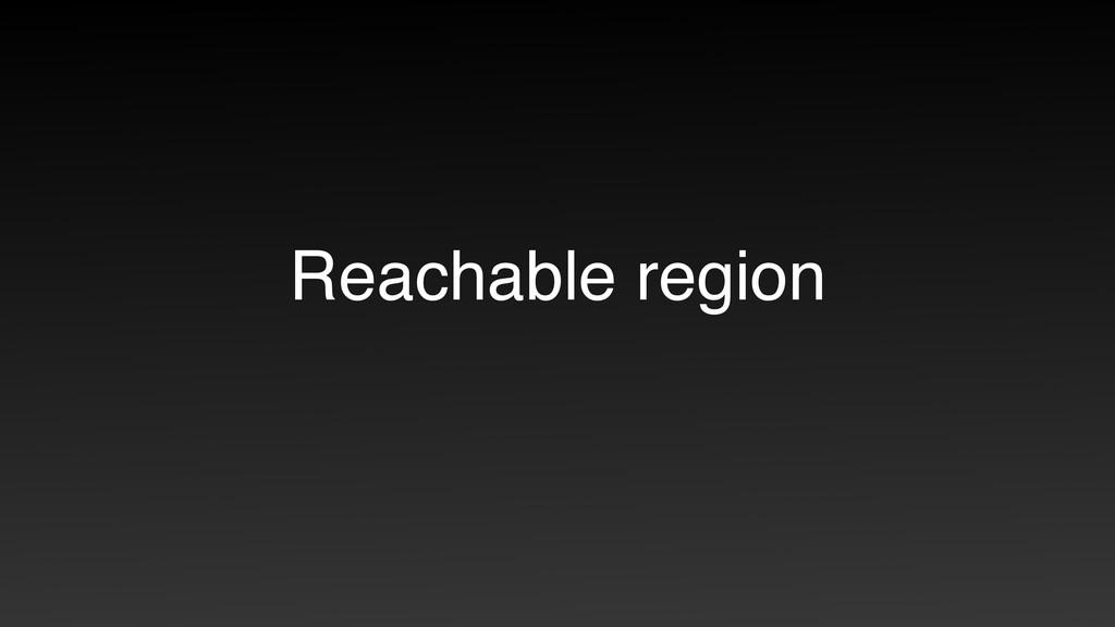 Reachable region