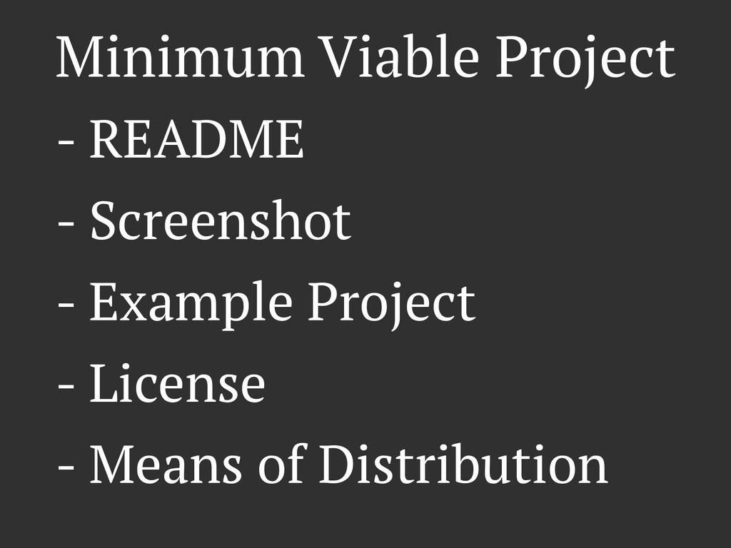 Minimum Viable Project - README - Screenshot - ...