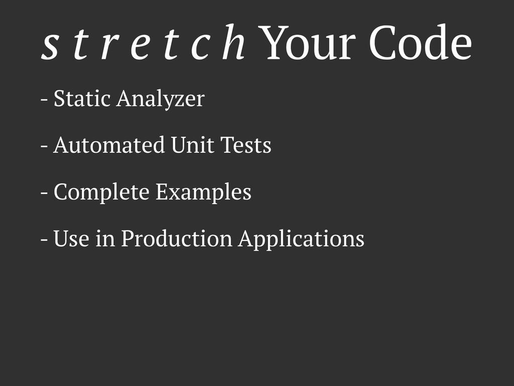s t r e t c h Your Code - Static Analyzer - Aut...