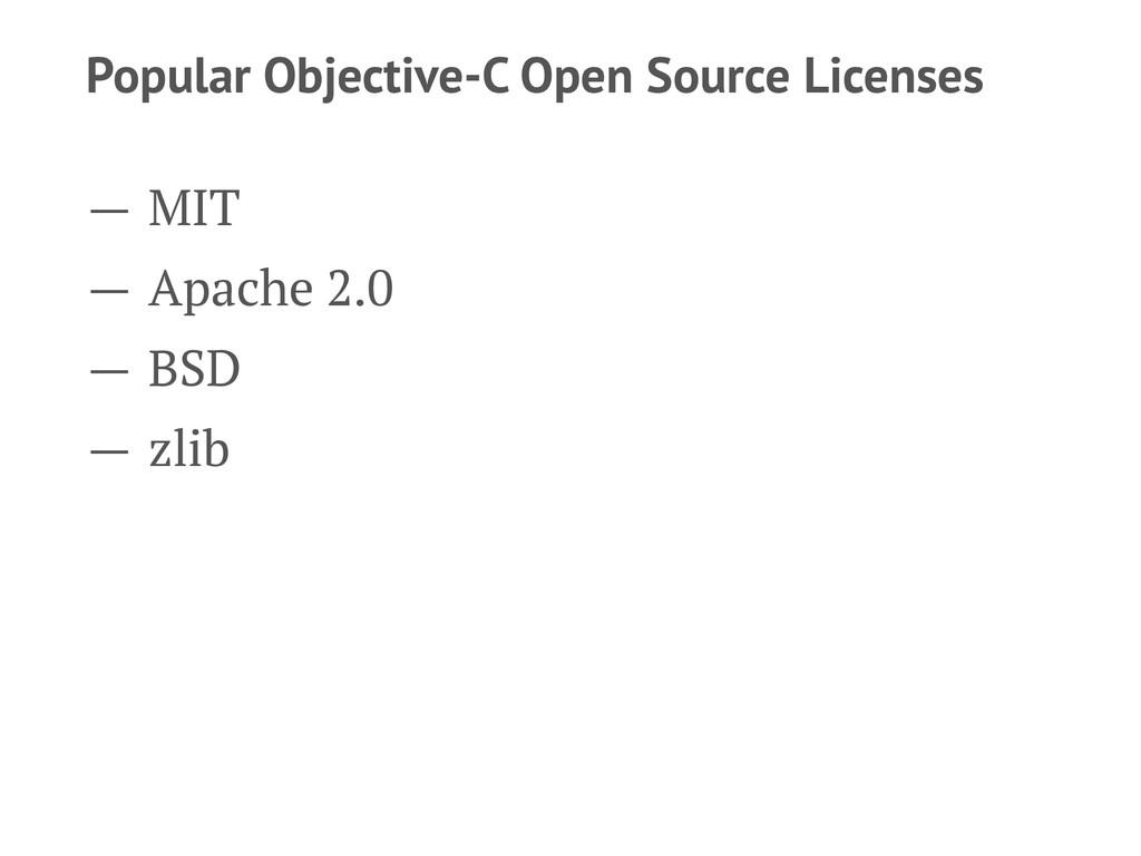 Popular Objective-C Open Source Licenses — MIT ...