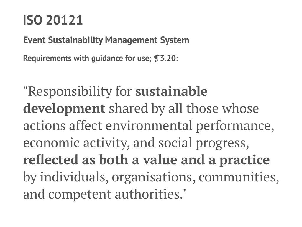 ISO 20121 Event Sustainability Management Syste...