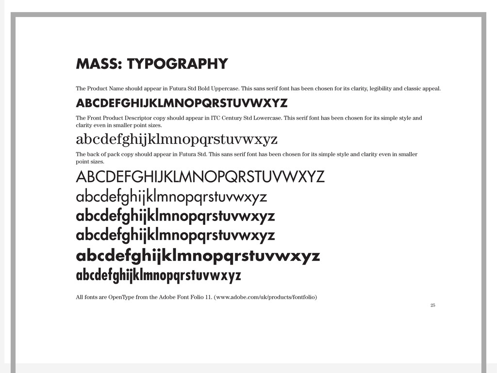 25 MASS: TYPOGRAPHY ABCDEFGHIJKLMNOPQRSTUVWXYZ ...