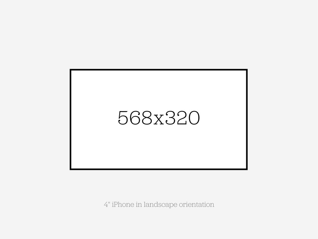 "568x320 4"" iPhone in landscape orientation"