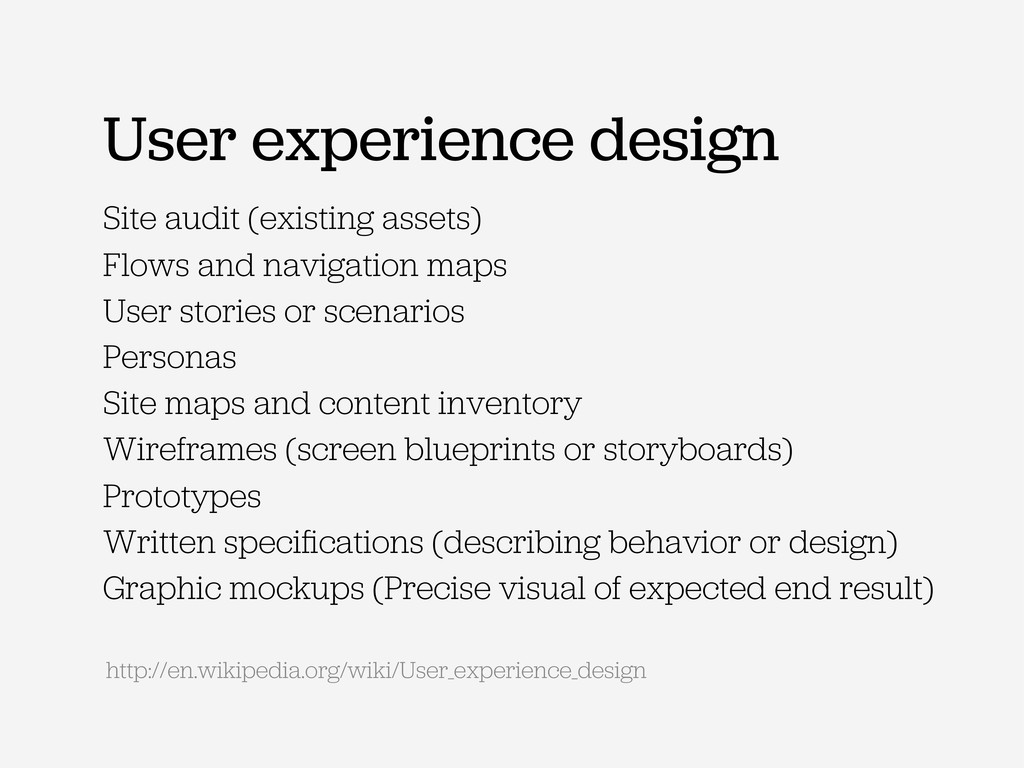 User experience design Site audit (existing ass...