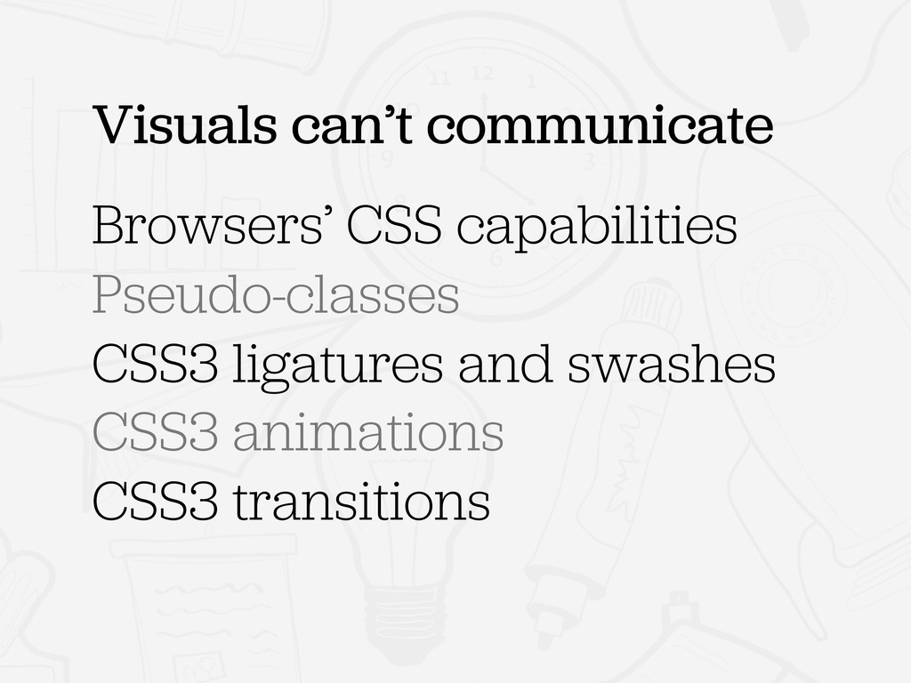 Browsers' CSS capabilities Pseudo-classes CSS3 ...