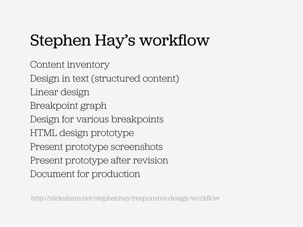 Stephen Hay's workflow Content inventory Design ...