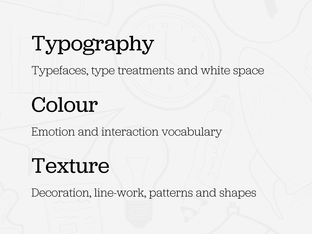 Typography Typefaces, type treatments and white...