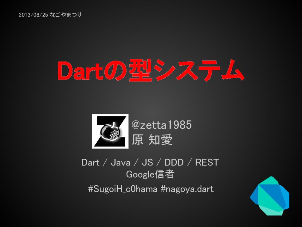 Dartの型システム @zetta1985 原 知愛 Dart / Java / JS / D...