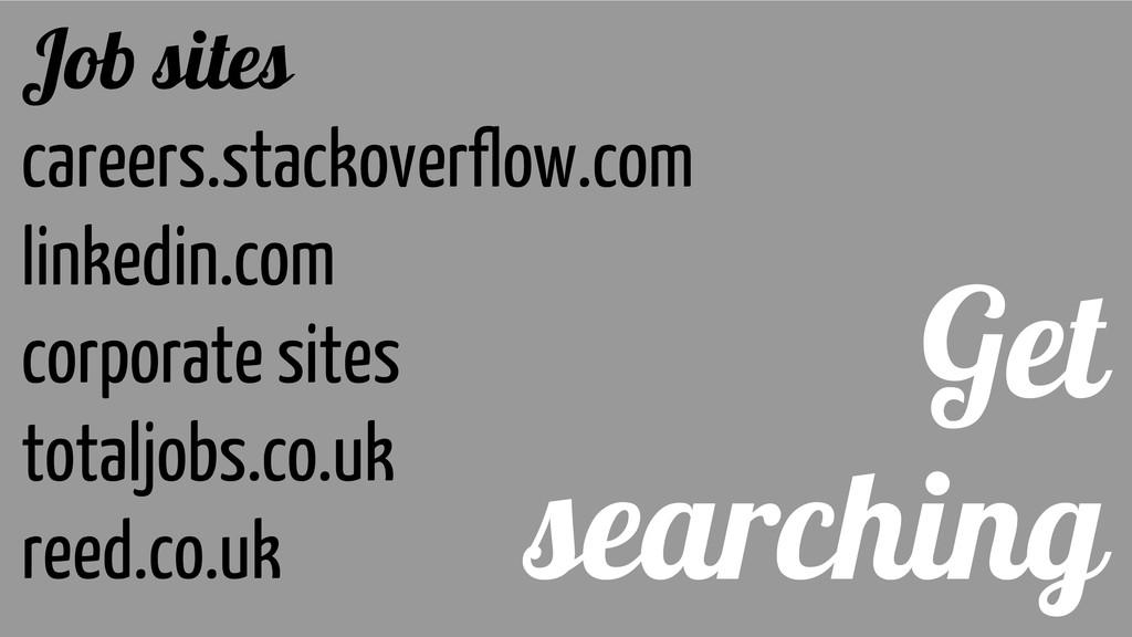 Get searching Job sites careers.stackoverflow.c...