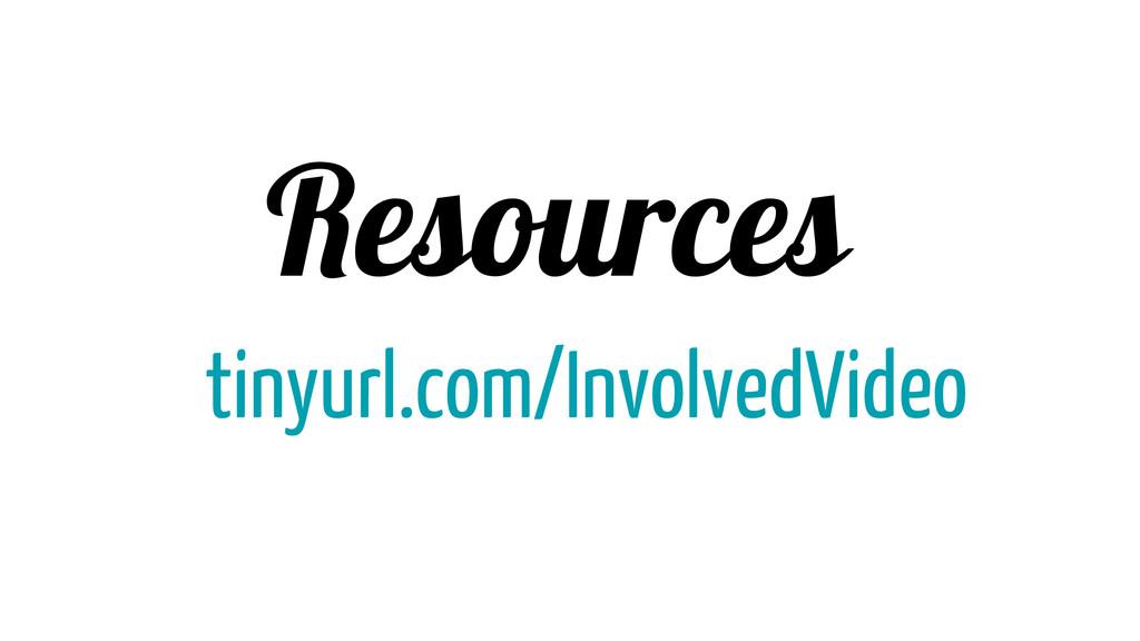 Resources tinyurl.com/InvolvedVideo