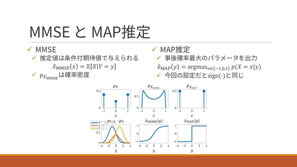 MMSE と MAP推定 ü MMSE ü 推定値は条件付期待値で与えられる % NNOP  ...