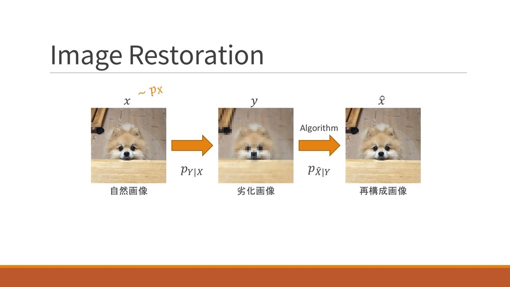Image Restoration ∼ # 自然画像  再構成画像 %  劣化画像  '|# ...