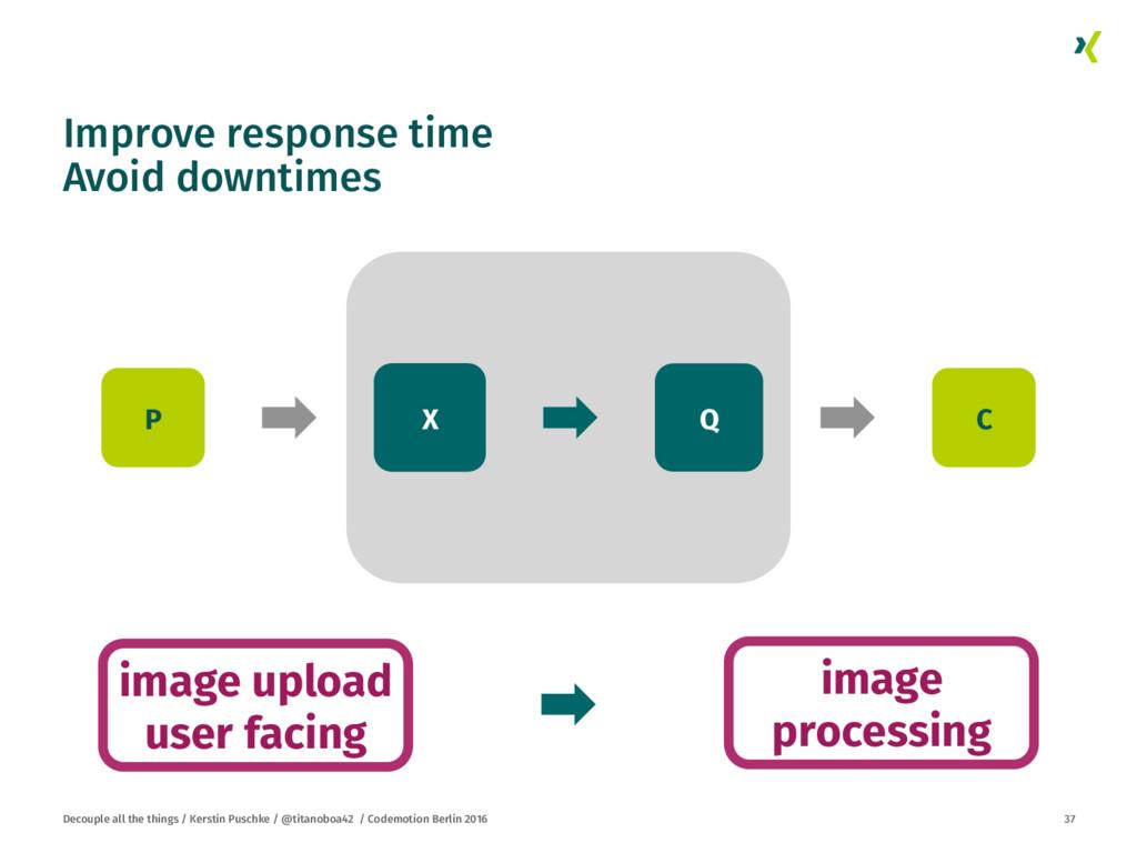 Improve response time Avoid downtimes Decouple...