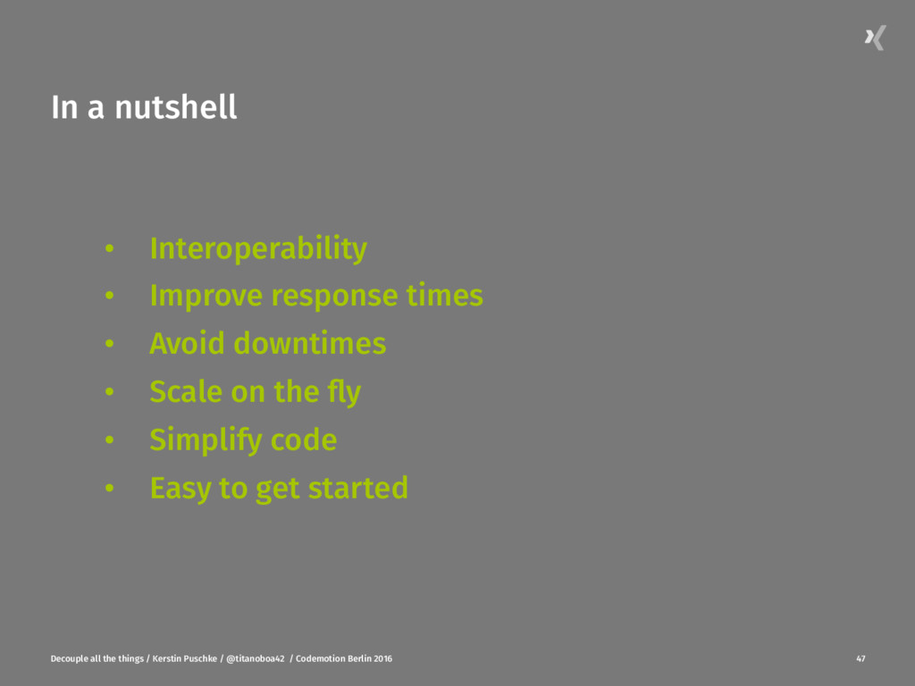 In a nutshell