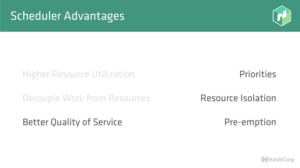 Scheduler Advantages Priorities Resource Isolat...