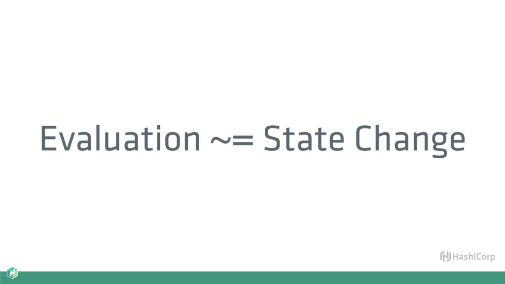 Evaluation ~= State Change
