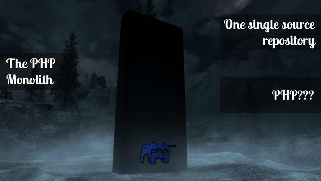 The PHP Monolith One single source repository P...