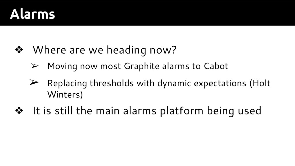 Alarms ❖ Where are we heading now? ➢ Moving now...