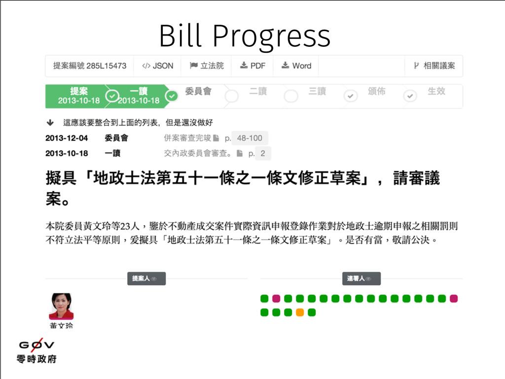 Bill Progress