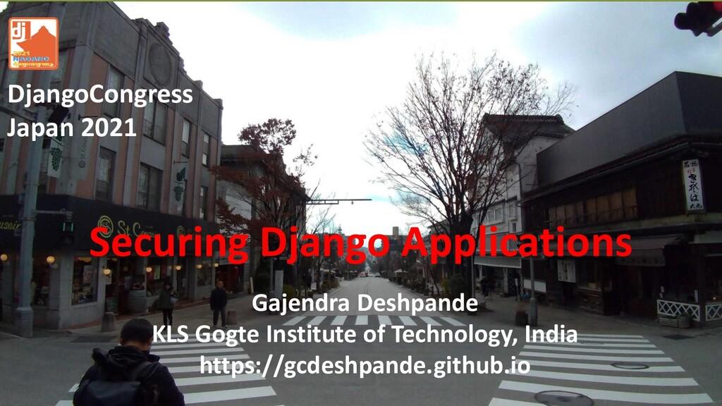 Gajendra Deshpande KLS Gogte Institute of Techn...