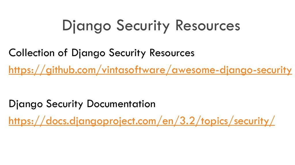 Django Security Resources Collection of Django ...