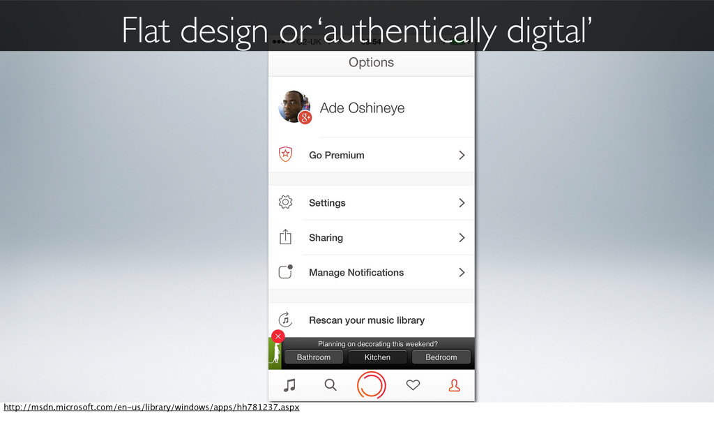 Flat design or 'authentically digital' http://m...
