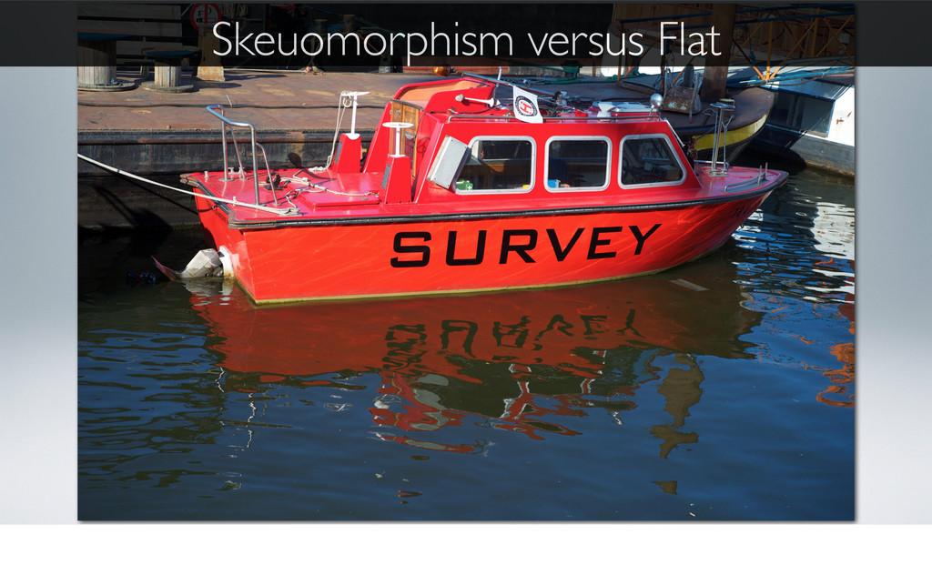 Skeuomorphism versus Flat