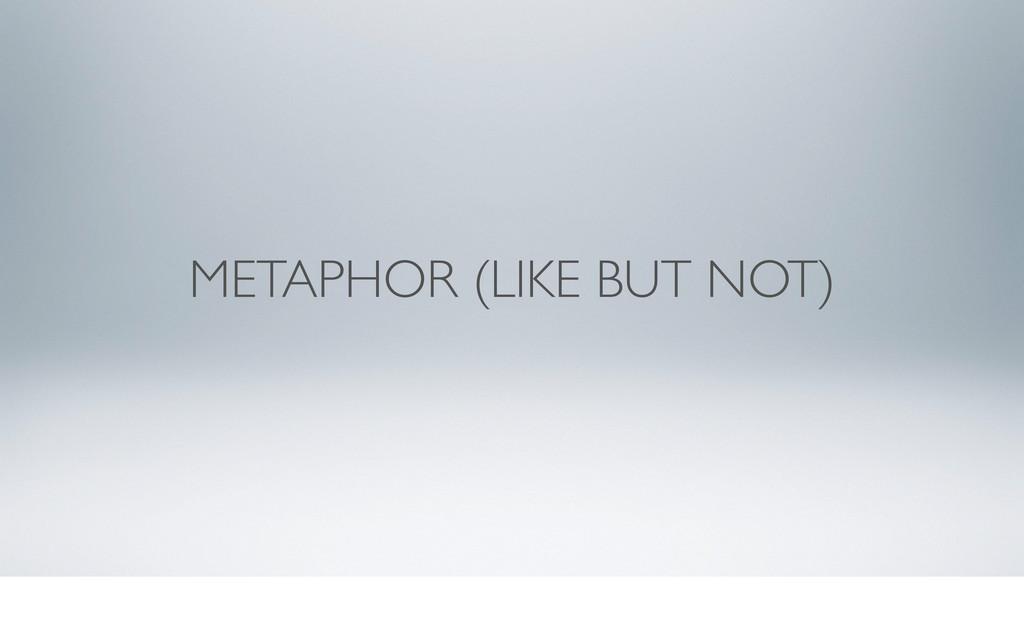 METAPHOR (LIKE BUT NOT)