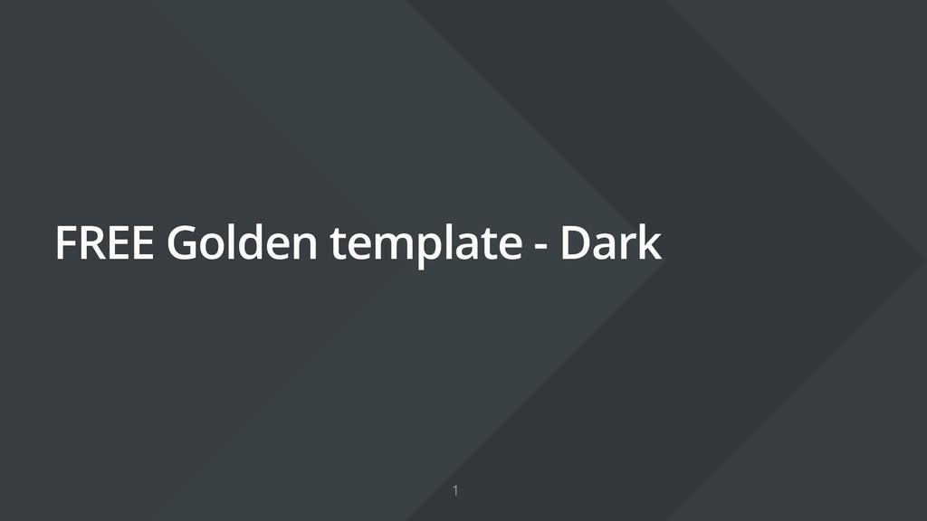 FREE Golden template - Dark