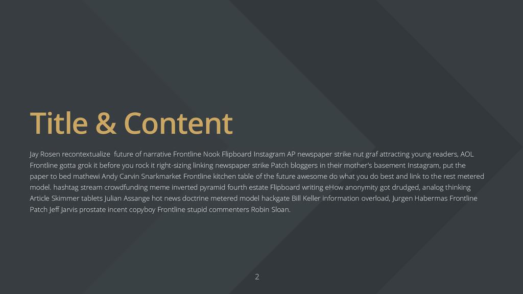 Title & Content Jay Rosen recontextualize futur...