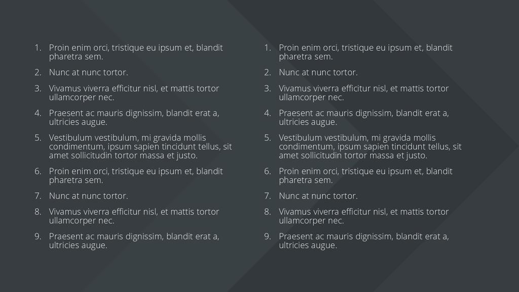 1. Proin enim orci, tristique eu ipsum et, blan...