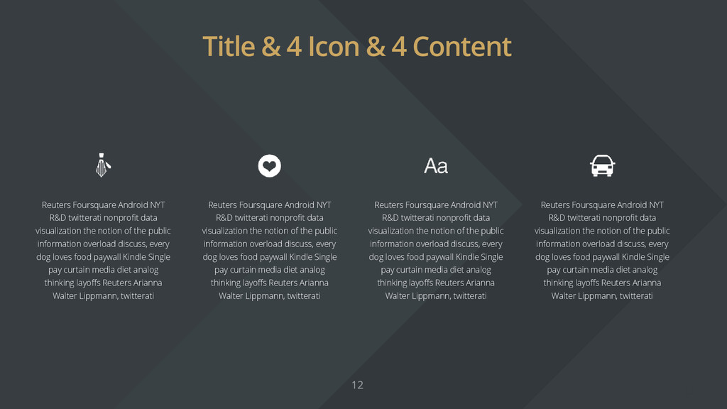 Title & 4 Icon & 4 Content Reuters Foursquare A...
