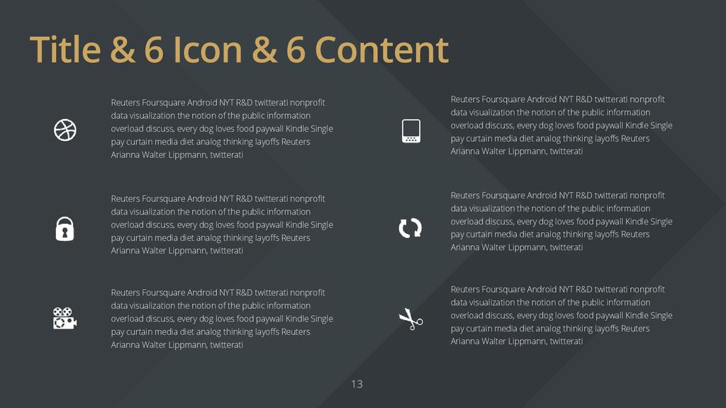 Title & 6 Icon & 6 Content Reuters Foursquare A...
