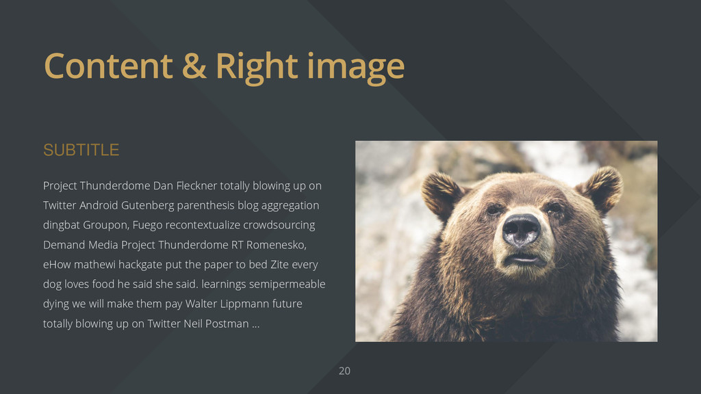 Content & Right image SUBTITLE Project Thunderd...