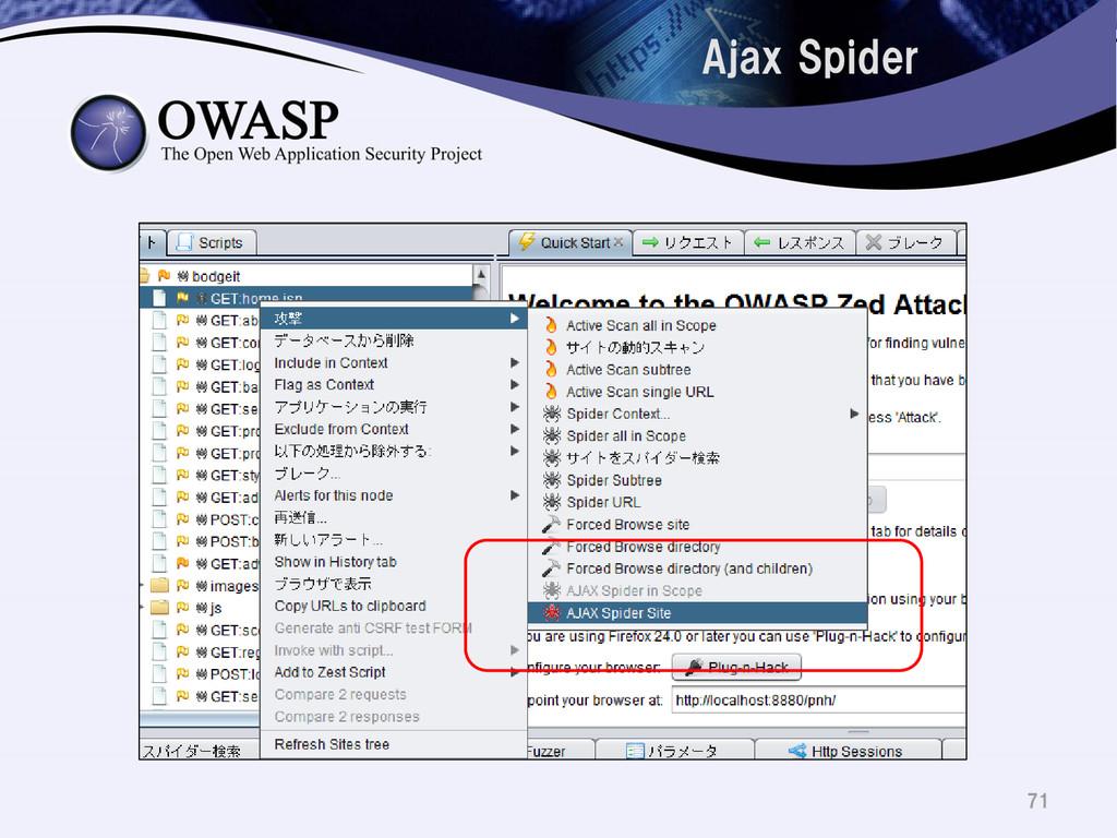 Ajax Spider 71