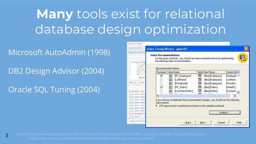 3 Many tools exist for relational database desi...