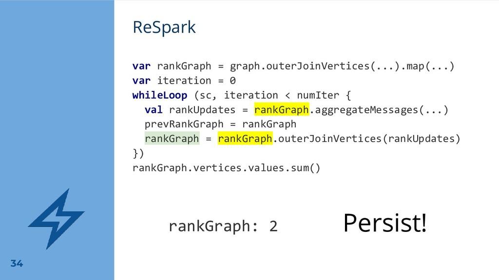 ReSpark var rankGraph = graph.outerJoinVertices...