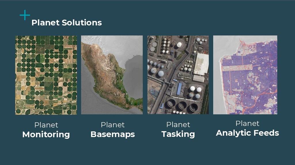 Planet Monitoring Planet Tasking Planet Analyti...