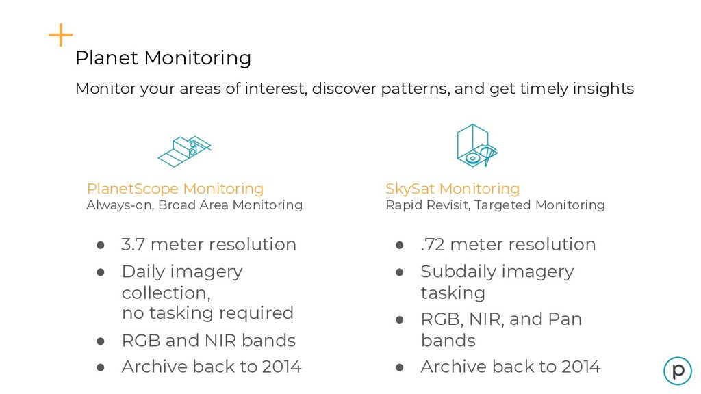 PlanetScope Monitoring Always-on, Broad Area Mo...