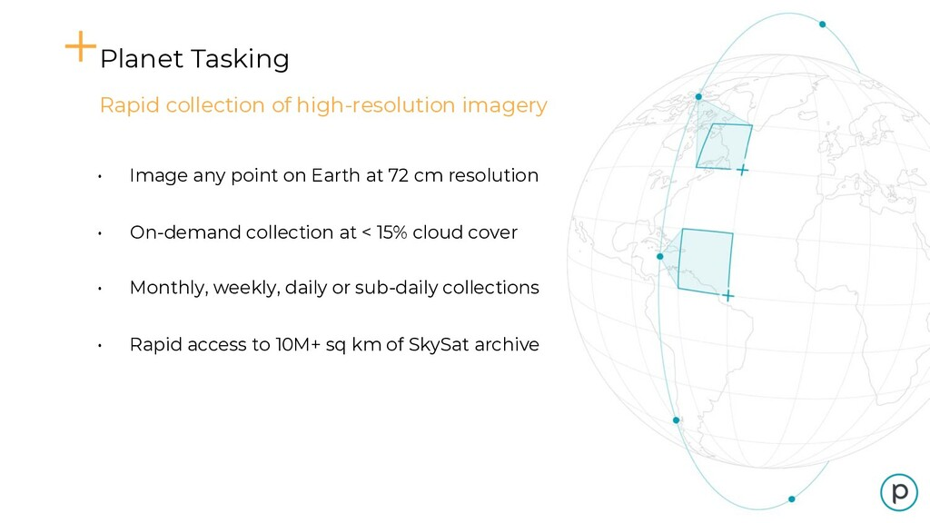Planet Tasking Rapid collection of high-resolut...