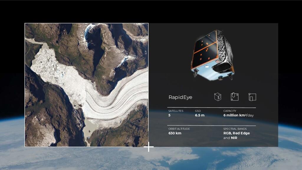 SATELLITES 5 GSD 6.5 m CAPACITY 6 million km2/d...