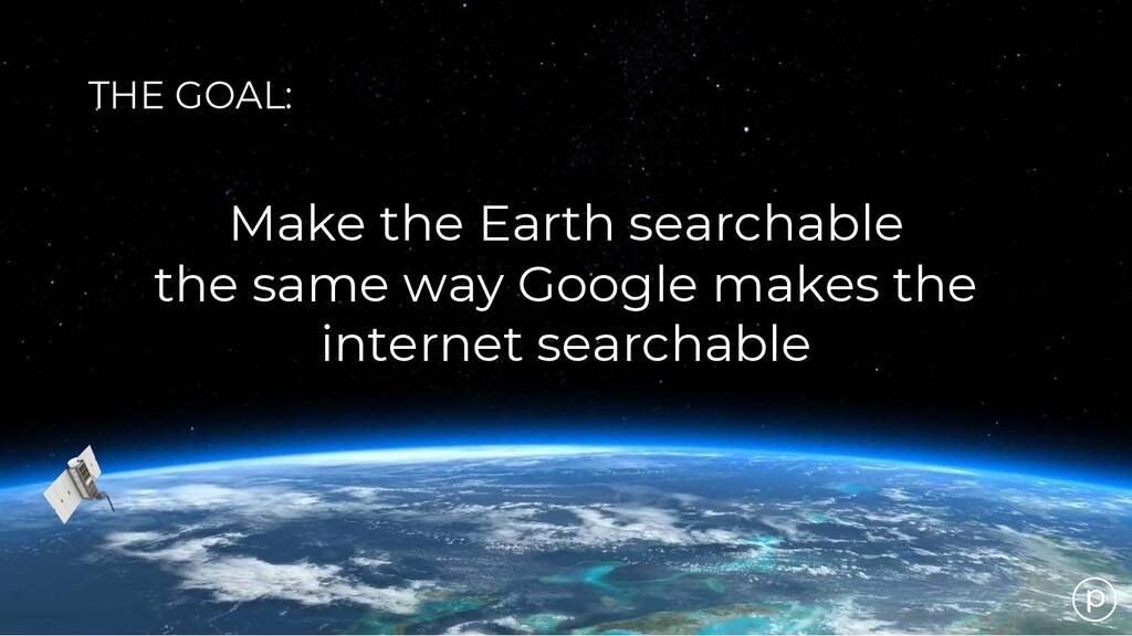 Make the Earth searchable the same way Google m...