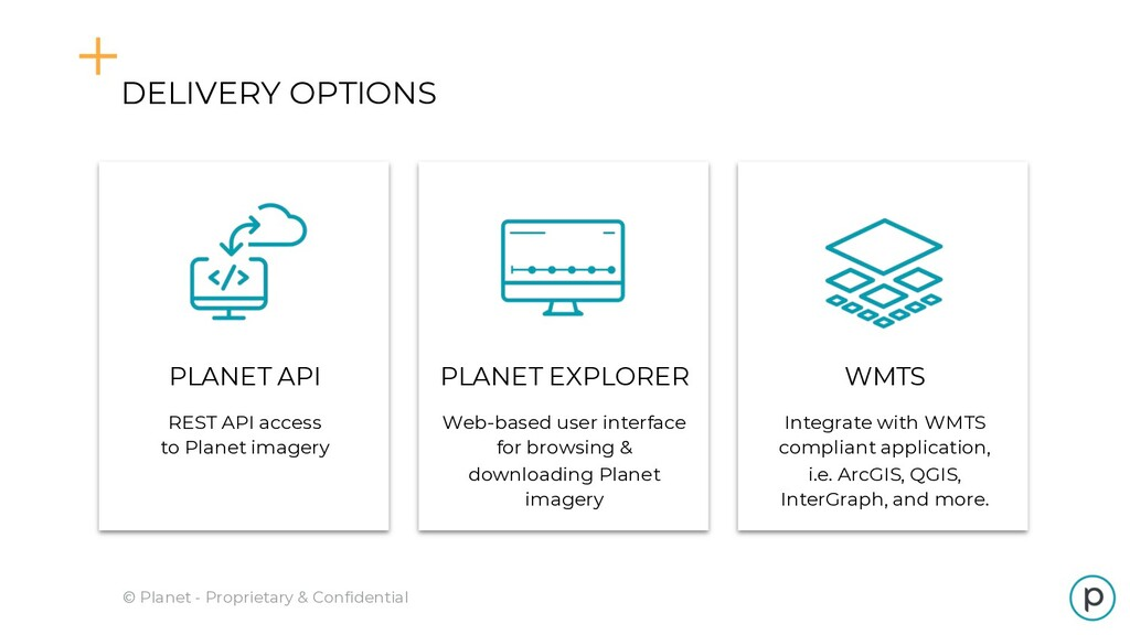 DELIVERY OPTIONS © Planet - Proprietary & Confi...